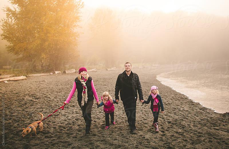 Family stroll on the beach. by Cherish Bryck for Stocksy United