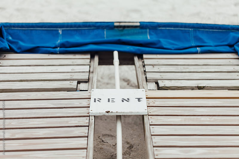 Close up of a cabana for rent by Amanda Worrall for Stocksy United