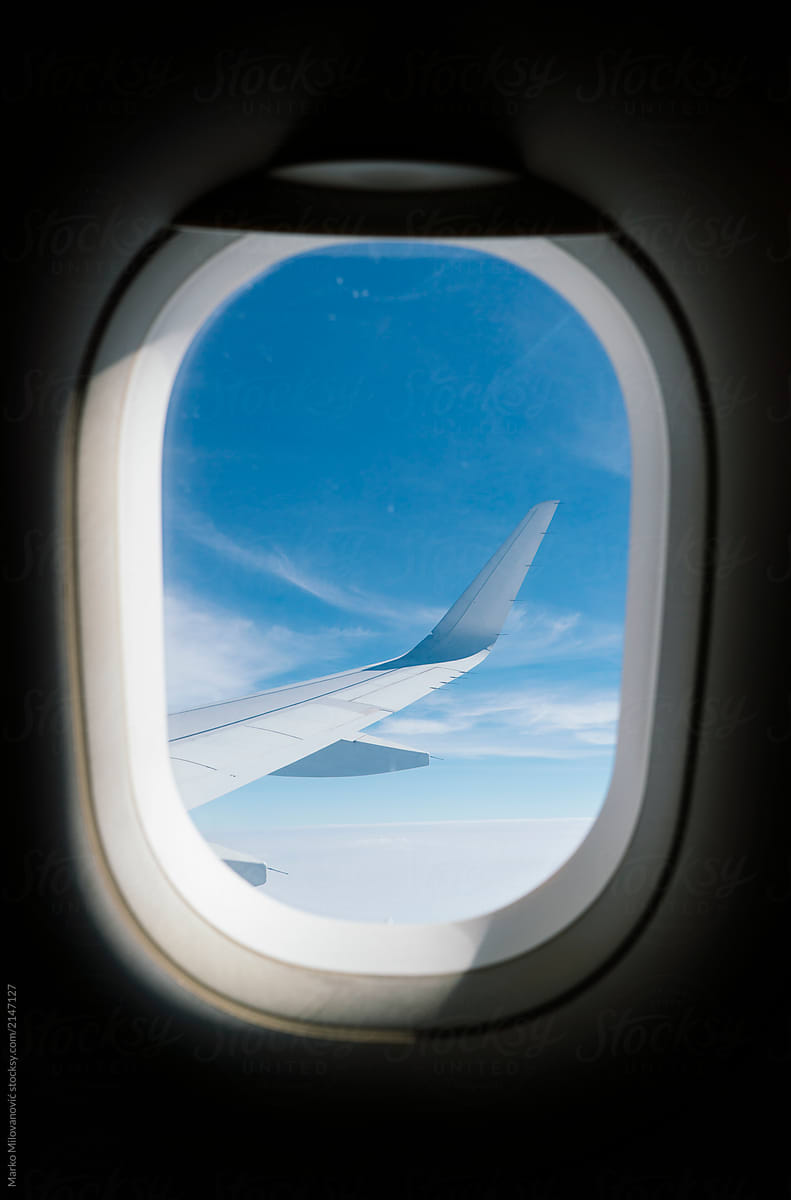 View Through Airplane Window | Stocksy United