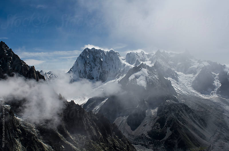 The Grandes Jorasses from the air by Neil Warburton for Stocksy United