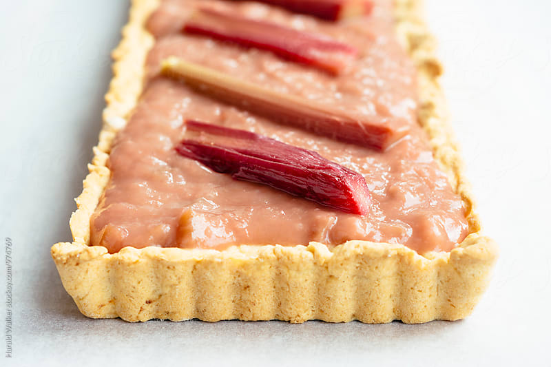 Rhubarb Almond Tart by Harald Walker for Stocksy United