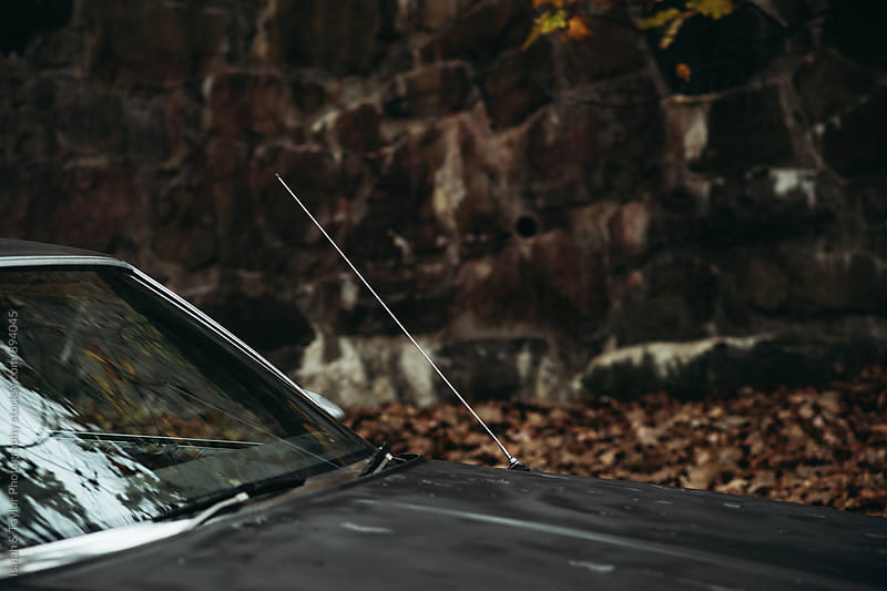 Windshield of old car by Isaiah & Taylor Photography for Stocksy United