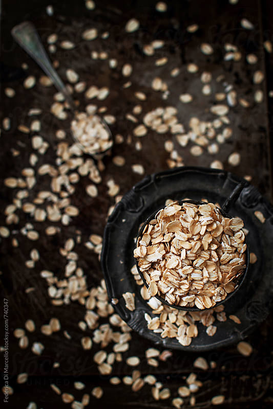 Rolled oats by Federica Di Marcello for Stocksy United