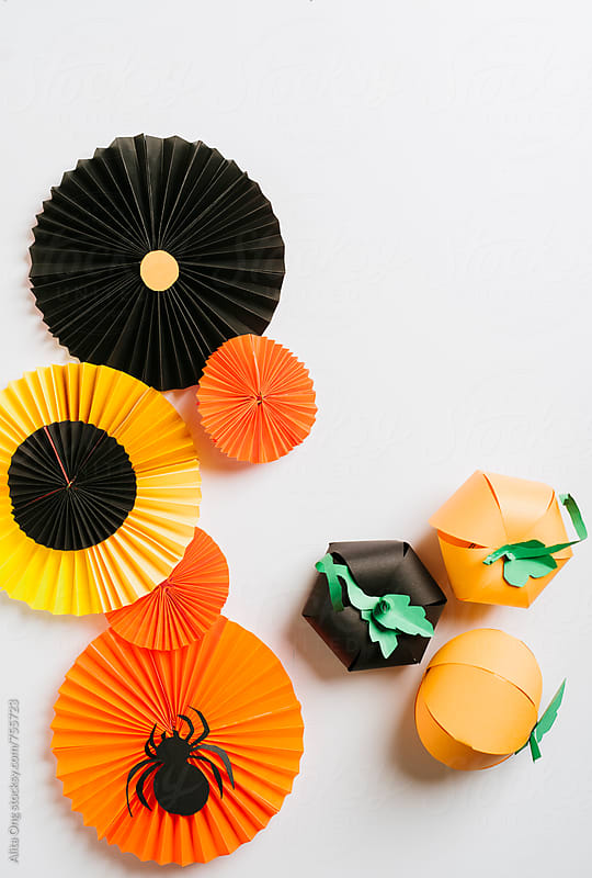 Halloween paper crafts by Alita Ong for Stocksy United