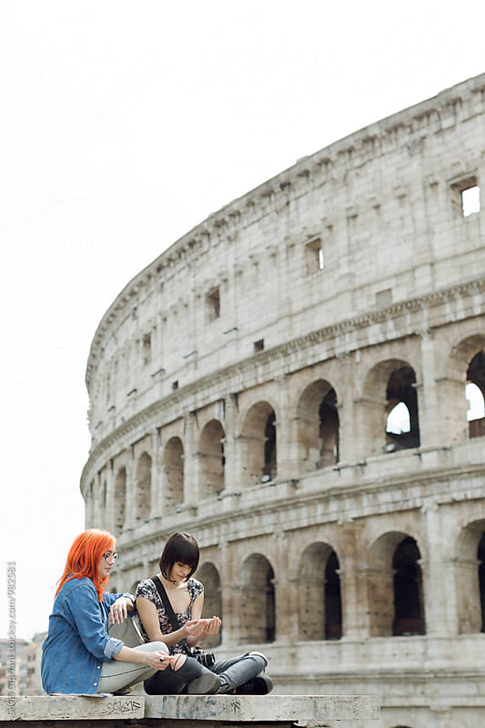 Tourist woman visiting Rome by Silvia Cipriani for Stocksy United