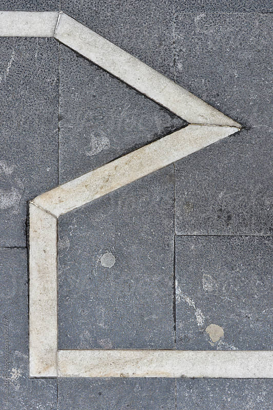 Geometric lines on the floor by Bisual Studio for Stocksy United