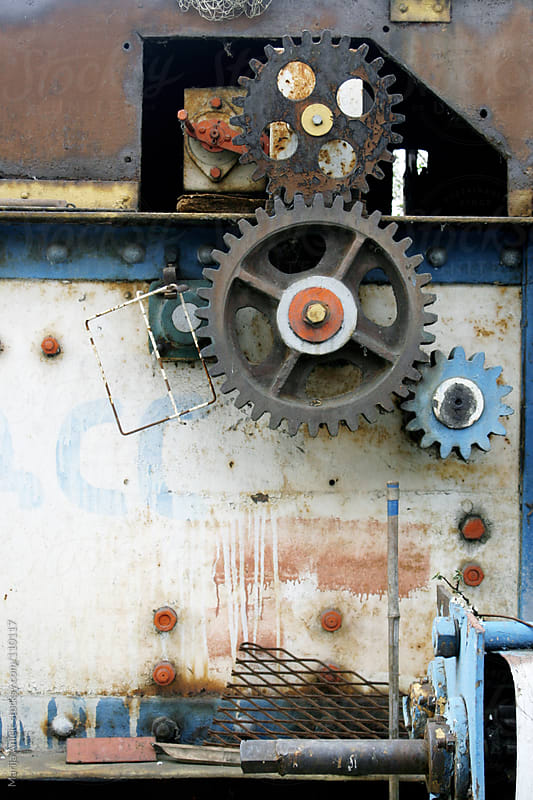 Mechanism with gears,screws and nails by Marija Anicic for Stocksy United
