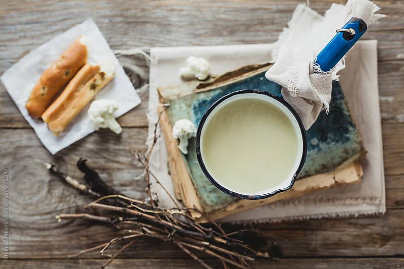 Cauliflower soup by Tatjana Ristanic for Stocksy United
