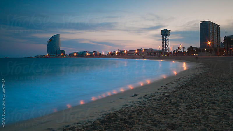 Barceloneta beach in Catalonia by ACALU Studio for Stocksy United