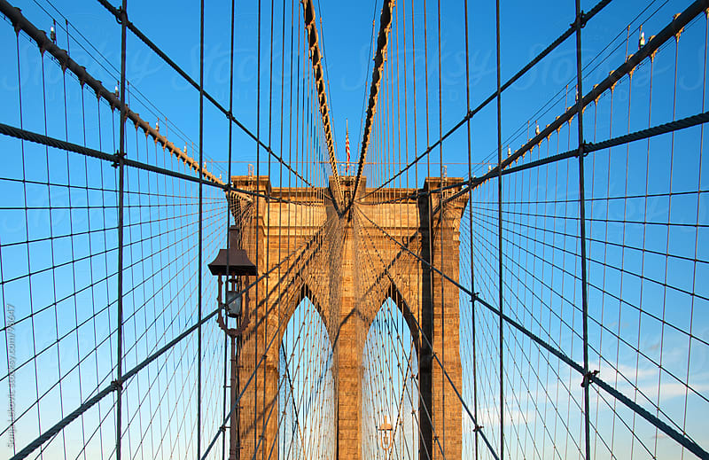 brooklyn bridge gate closeup in new york city by Sonja Lekovic for Stocksy United