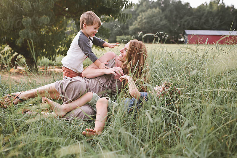 Mom and Boys by Erin Drago for Stocksy United