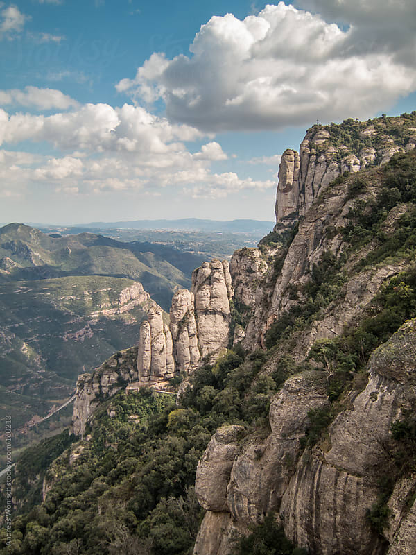 Mountains of Montserrat by Andreas Wonisch for Stocksy United
