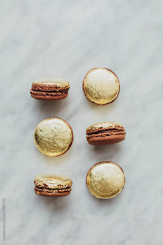 French Golden Macarons by Lumina for Stocksy United
