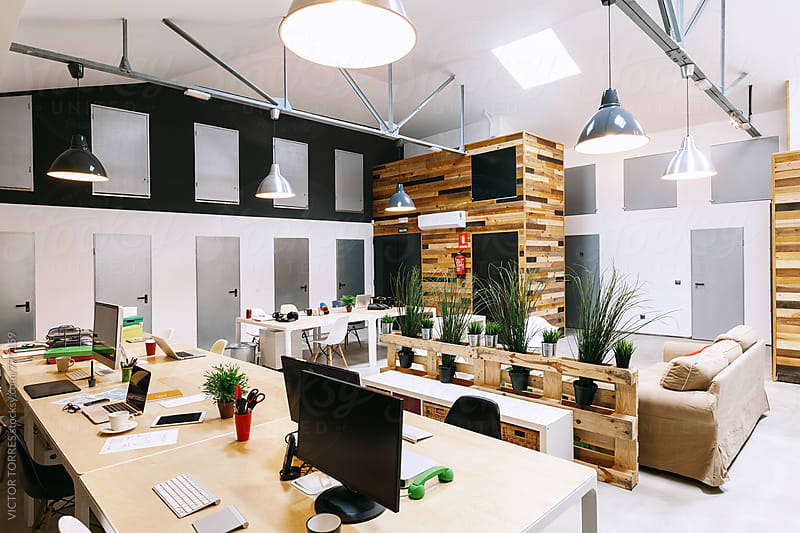 Modern Trendy Coworking Office by VICTOR TORRES for Stocksy United