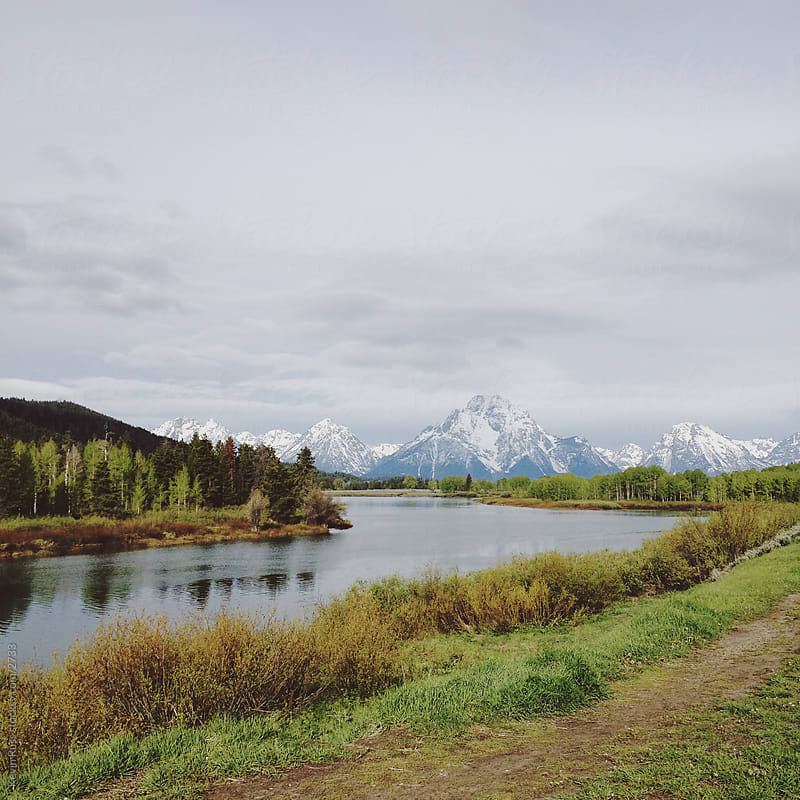 Teton Snake Mountain River by Kevin Russ for Stocksy United