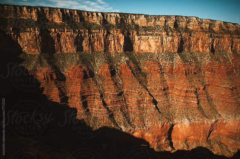 Grand Canyon Cliff by michelle edmonds for Stocksy United