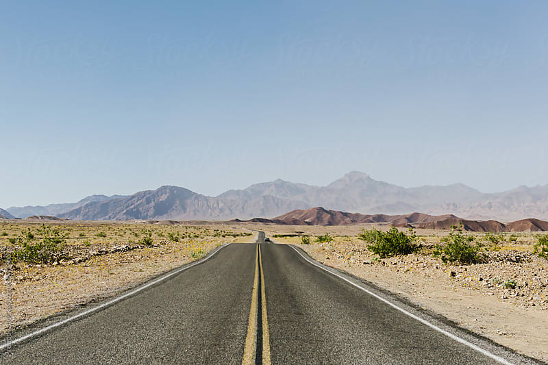 Highway in Death Valley National Park by Preappy for Stocksy United