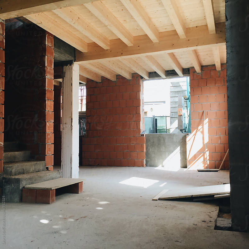 Interior of house in the making by Laura Stolfi for Stocksy United