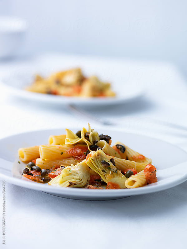 Tortiglioni ai carciofi by J.R. PHOTOGRAPHY for Stocksy United