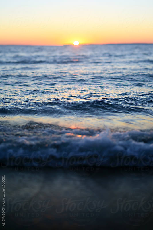 A Summer Sunset Over Lake Michigan by ALICIA BOCK for Stocksy United