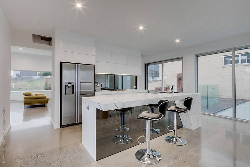 Architect designed kitchen by Rowena Naylor for Stocksy United