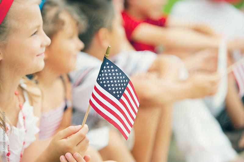 Parade: Tight Focus on American Flag by Sean Locke for Stocksy United