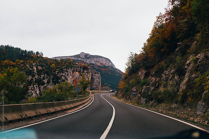 Road view around spanish Pyrenees  by Leandro Crespi for Stocksy United