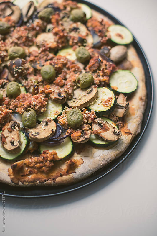 Vegetarian Pizza by Lumina for Stocksy United
