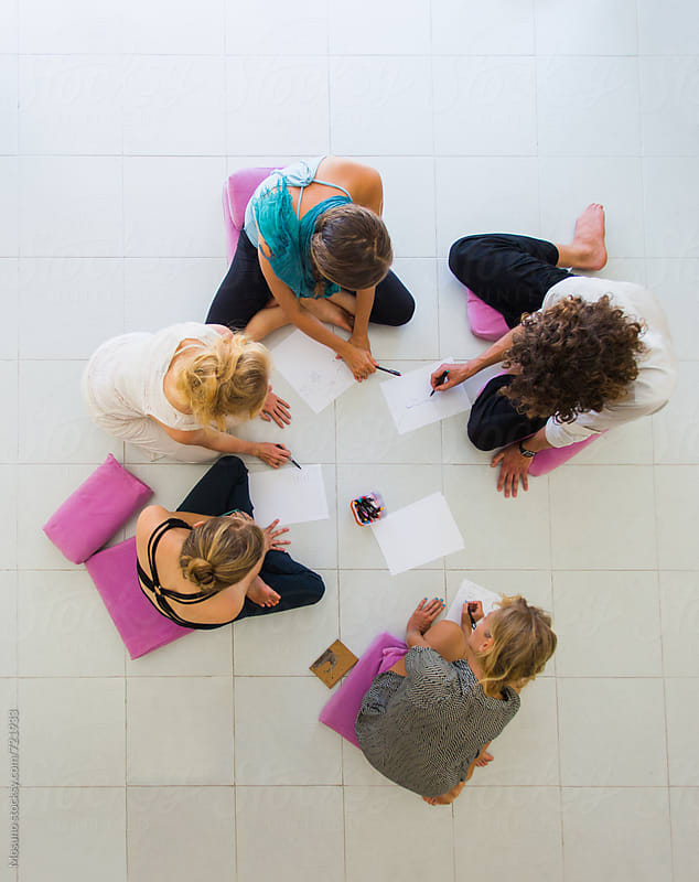 Overhead Shot of People Studying by Mosuno for Stocksy United