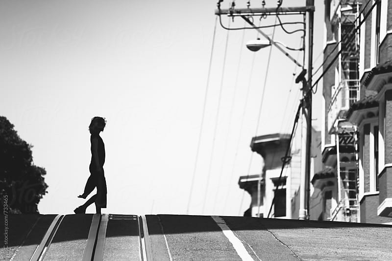 Woman walking in the streets of San Francisco by GIC for Stocksy United