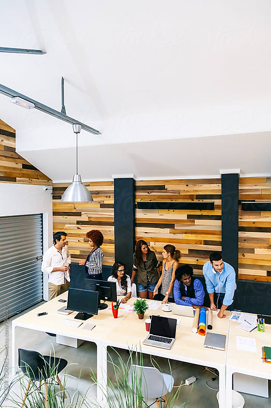 Coworking Office with Young Entrepreneurs by Victor Torres for Stocksy United