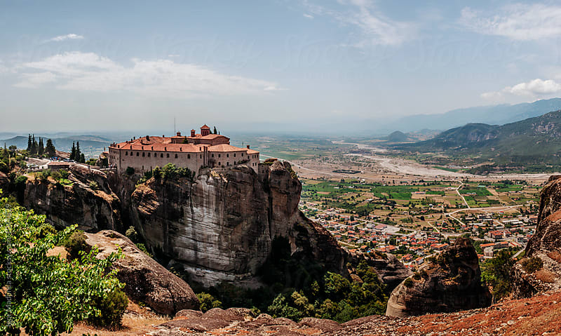 meteora,spectacular rock formations and Greek Orthodox monasteries by Igor Madjinca for Stocksy United