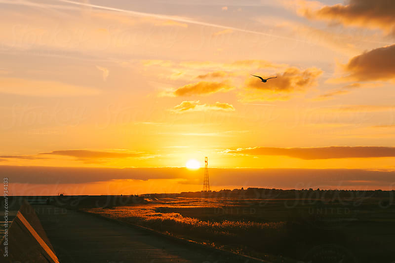 Sunset at Frinton by Sam Burton for Stocksy United