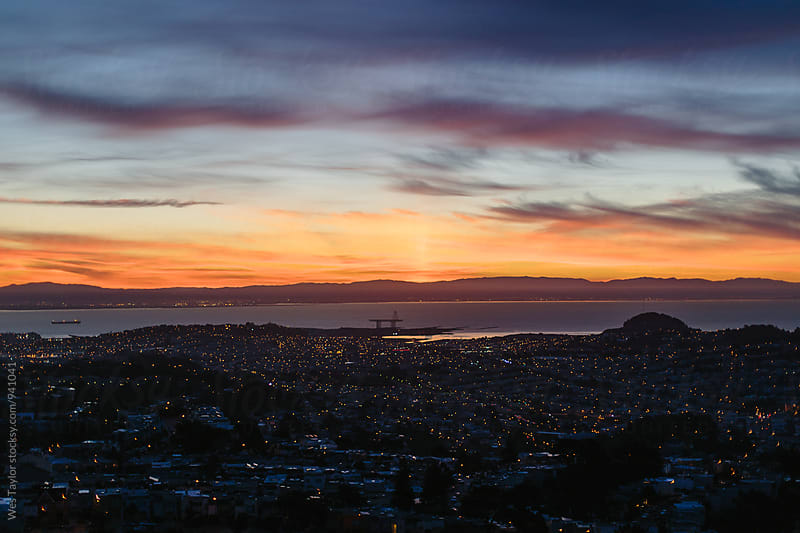 San Francisco at sunrise by Wes Taylor for Stocksy United