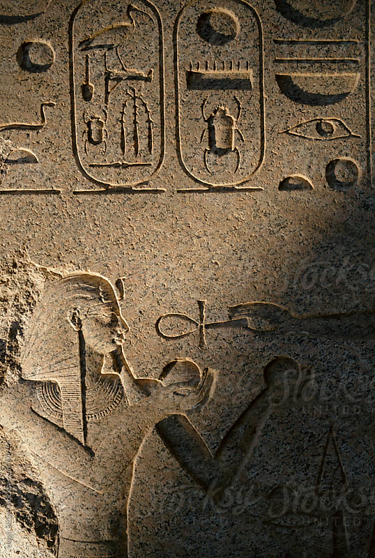 Image of hieroglyphics on temple wall. Karnak Temple. Egypt. by Hugh Sitton for Stocksy United