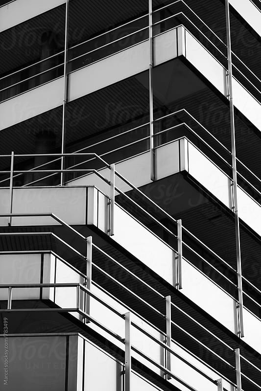 Modern architecture details in Hamburg harbour district by Marcel for Stocksy United