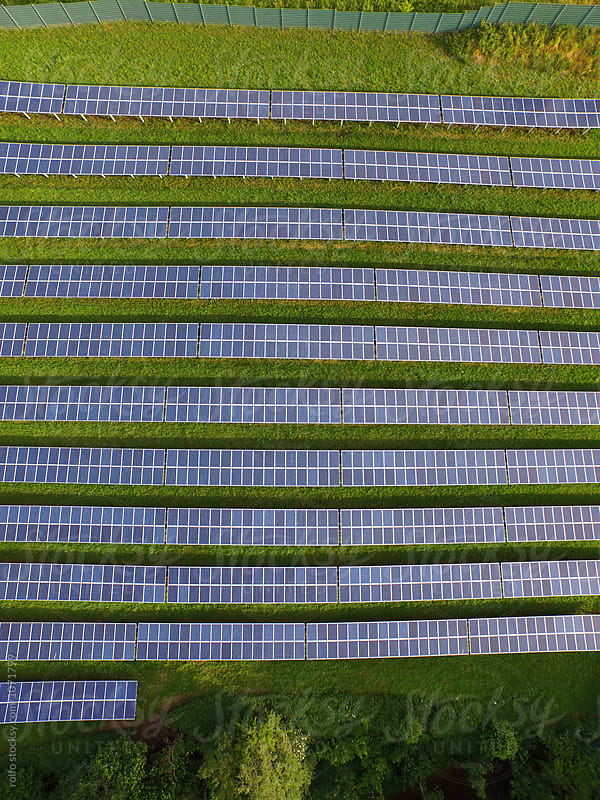 Solar panels in lines by rolfo for Stocksy United