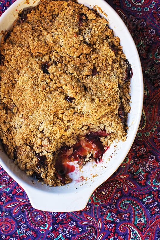 Berry Crisp Dessert by Sara Remington for Stocksy United
