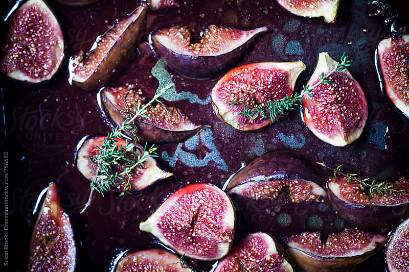 Roasted figs by Susan Brooks-Dammann for Stocksy United