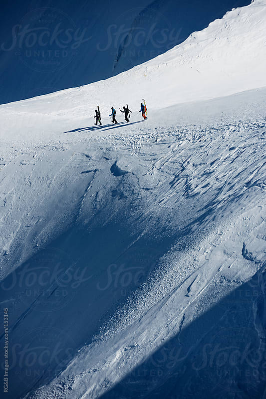 Team of skiers  by RG&B Images for Stocksy United