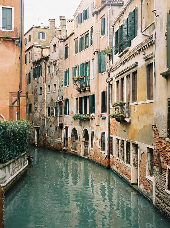 Pretty building in Venice overlooking Canal by Kirstin Mckee for Stocksy United