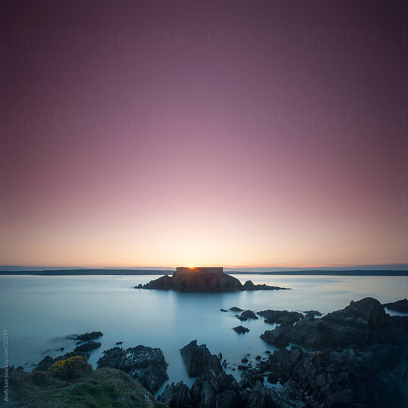Thorn Island Sunset by Andy Lee for Stocksy United