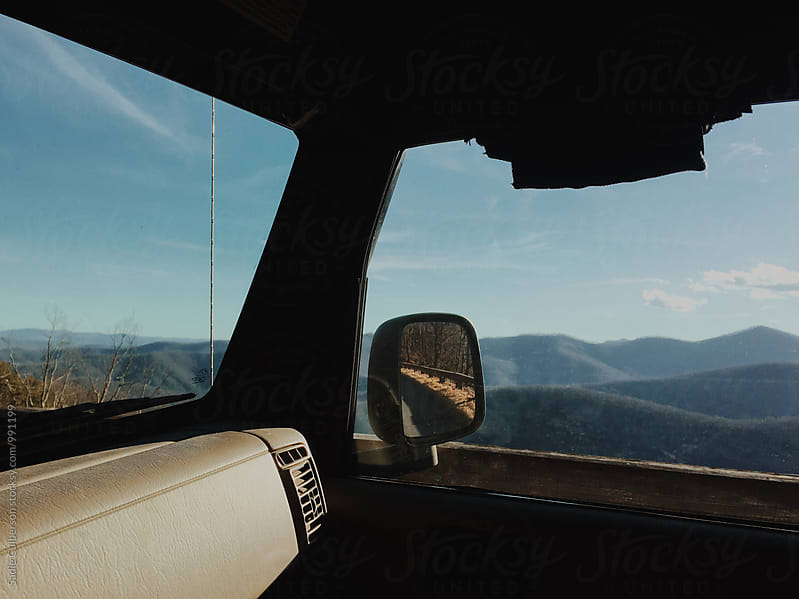Driving on Blue Ridge Parkway by Sadie Culberson for Stocksy United