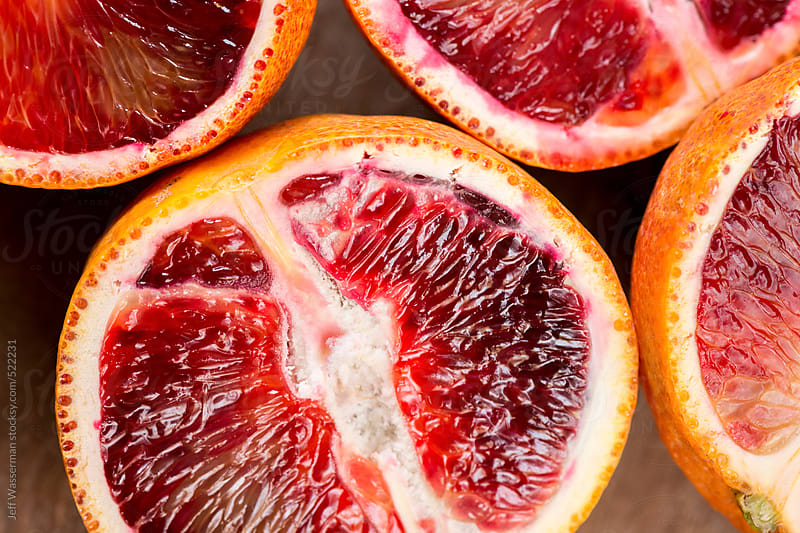 Sliced Blood Oranges by Studio Six for Stocksy United