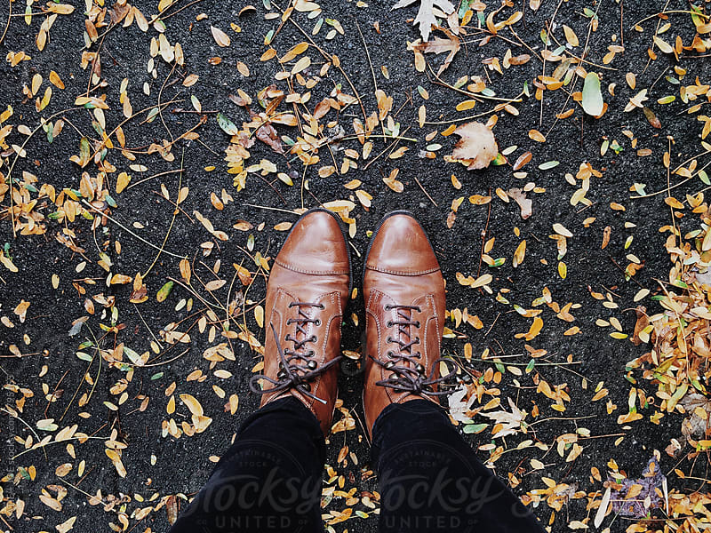 Boots in Leaves by KATIE + JOE for Stocksy United