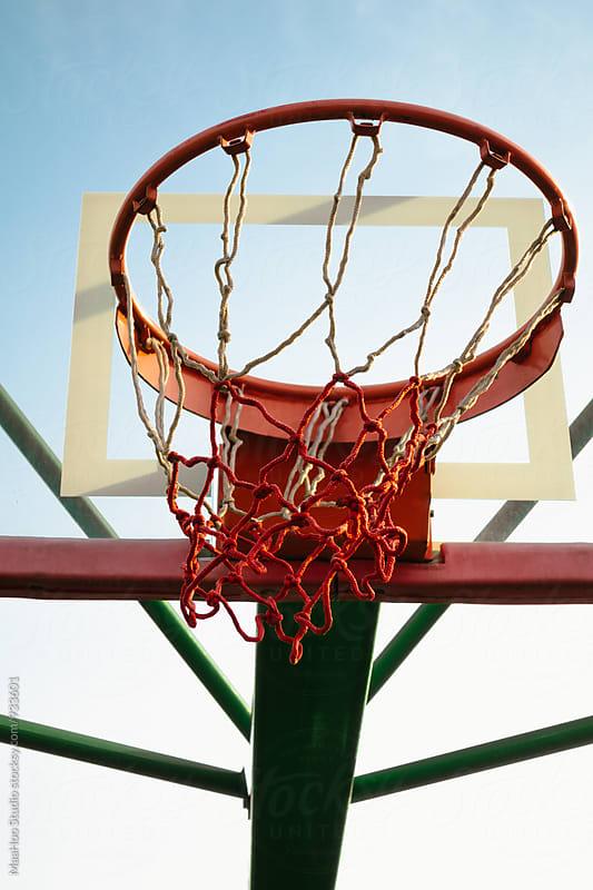 Basketball Hoop Against Sky by Maa Hoo for Stocksy United