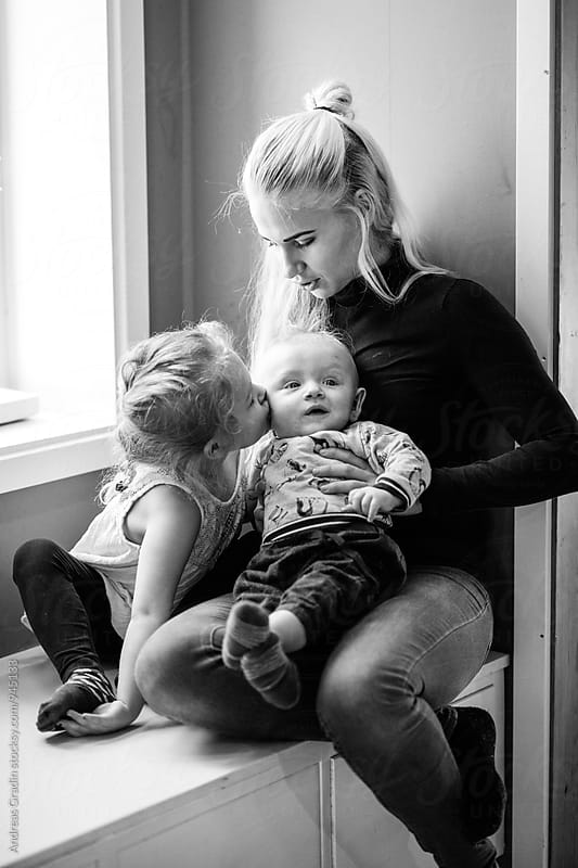 mother and children by Andreas Gradin for Stocksy United