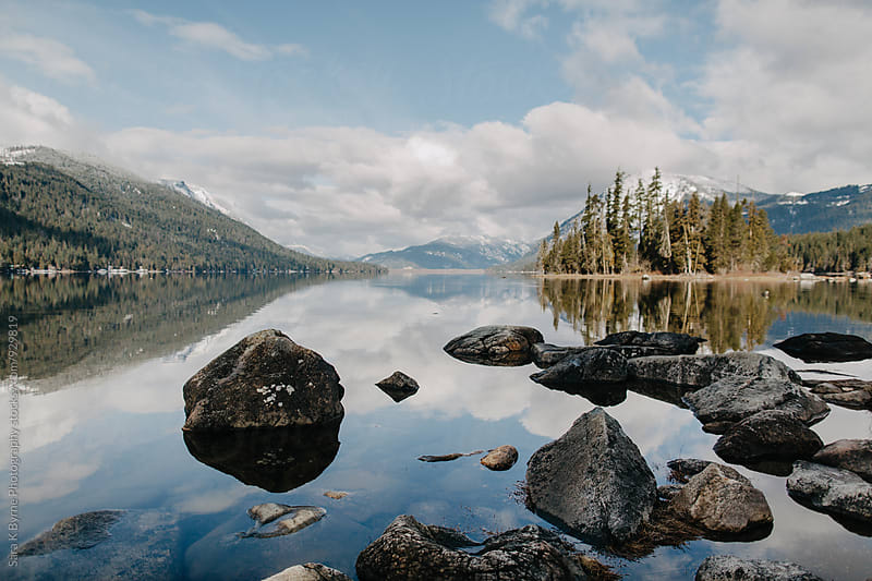 Mountain Lake by Sara K Byrne Photography for Stocksy United