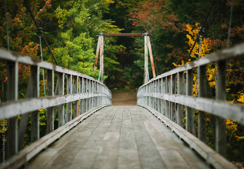 Footbridge in White Mountains by Raymond Forbes LLC for Stocksy United