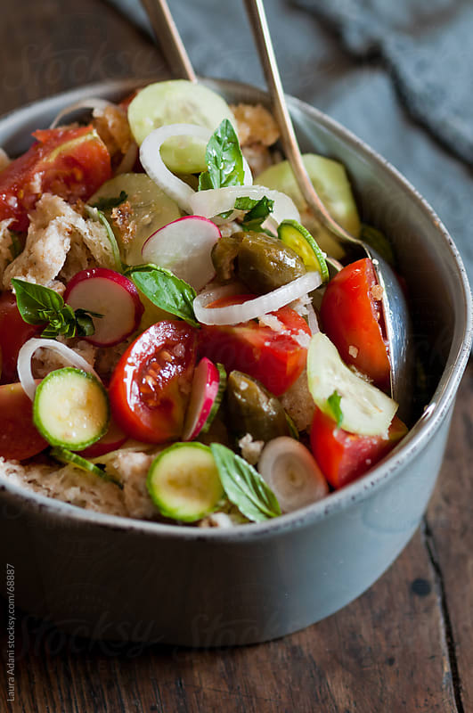 tuscan 'panzanella' with wet bread by Laura Adani for Stocksy United